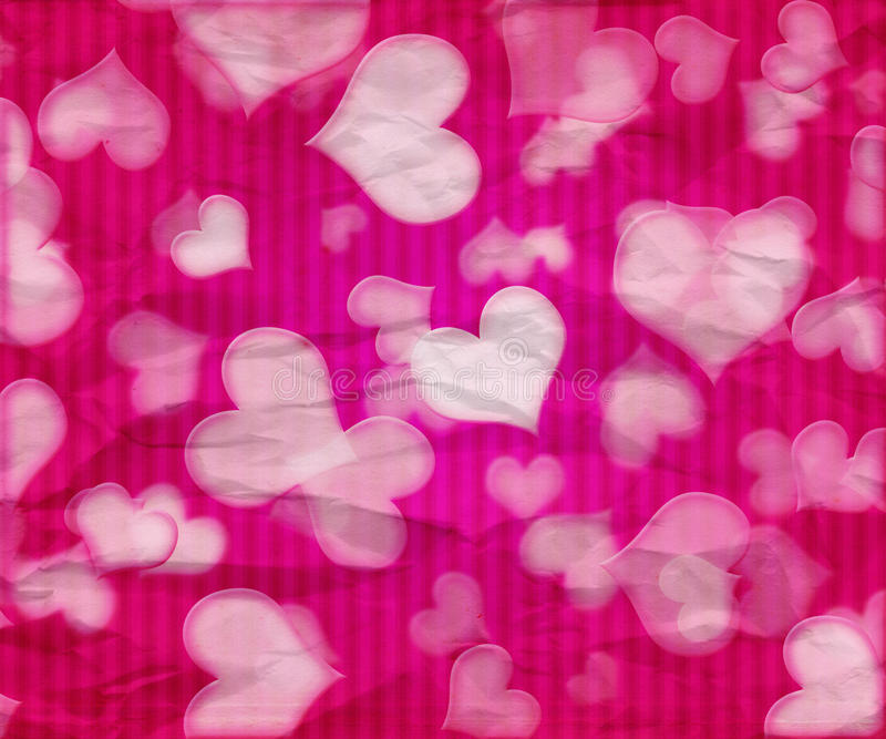 Pink Valentine Background stock illustration