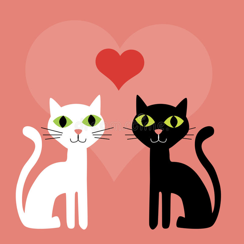 Free Pink Valentine Cats Background Stock Image - 12877561