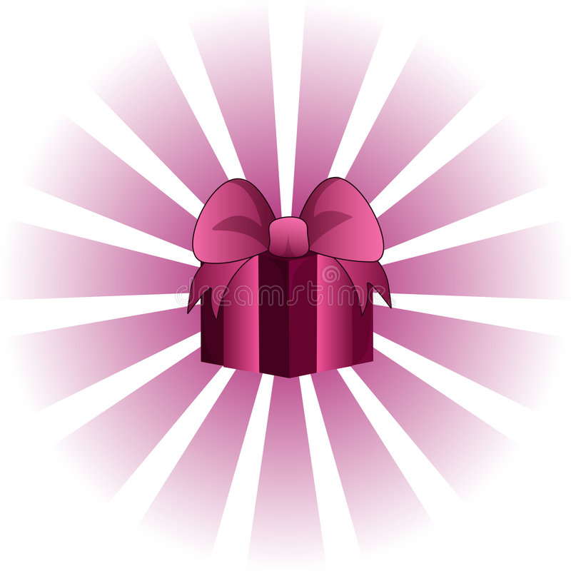 Free Pink Valentine Giftbox Royalty Free Stock Images - 4156239