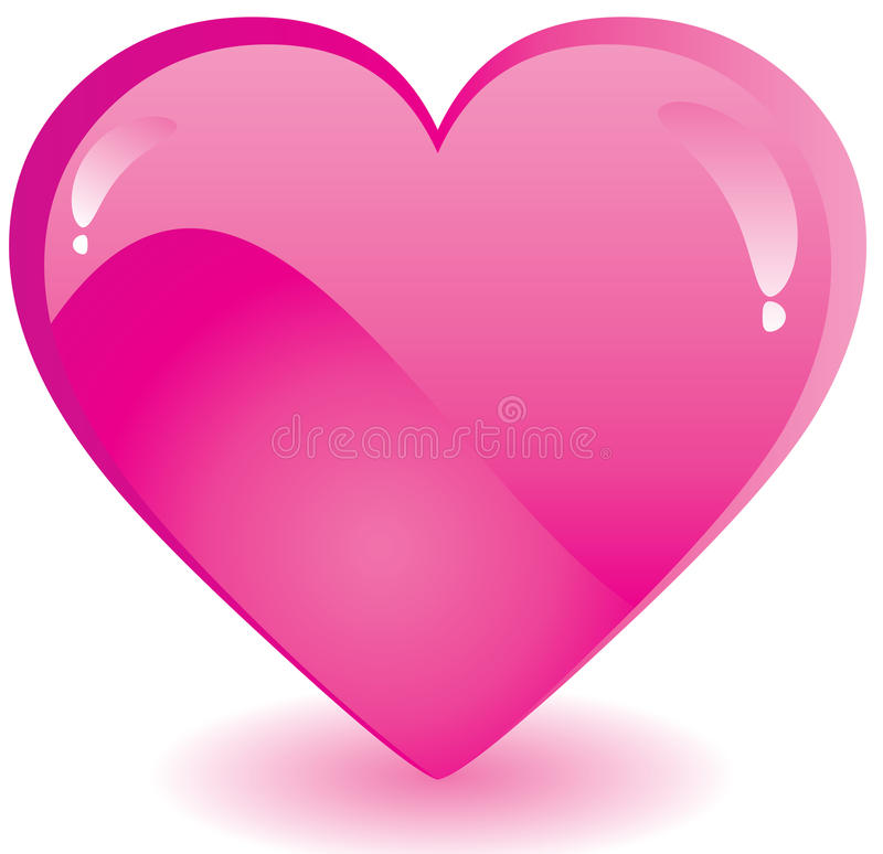 Pink Valentine heart stock image