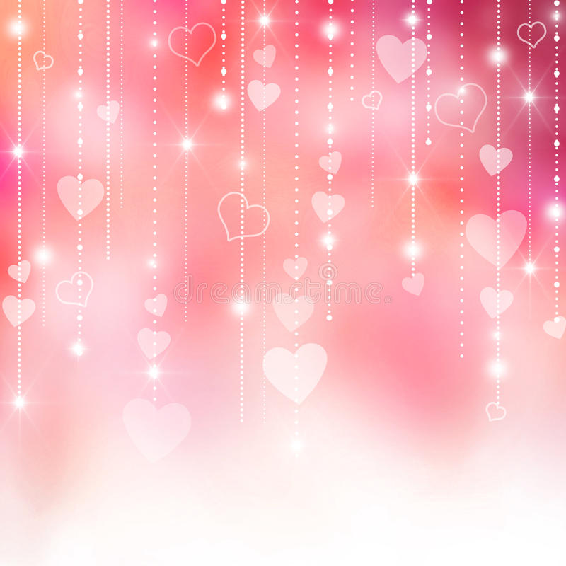 Free Pink Valentine S Hearts Background Royalty Free Stock Images - 28459059