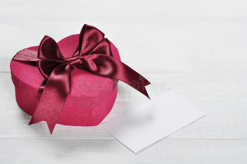 Download Pink Valentines Day Gift Box Stock Image - Image of object, ribbon: 29168915