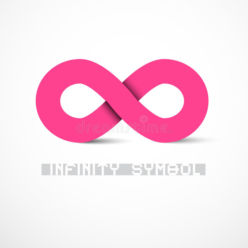 Pink Vector Infinity Symbol Stock Vector Illustration Of Eternity