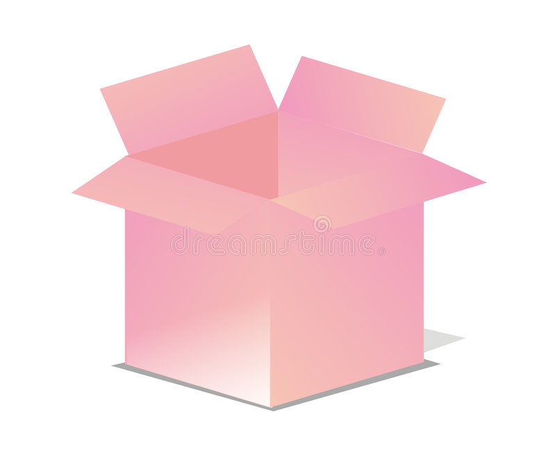 Pink Vector Open Box Royalty Free Stock Photo