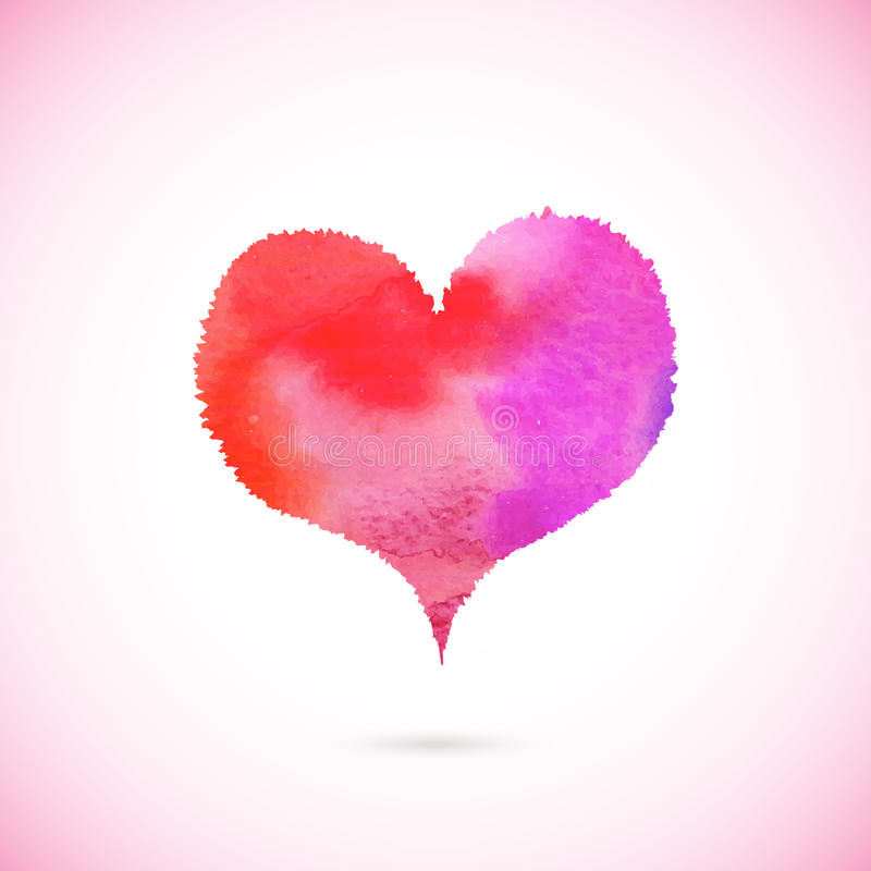Pink vector painted heart stock image