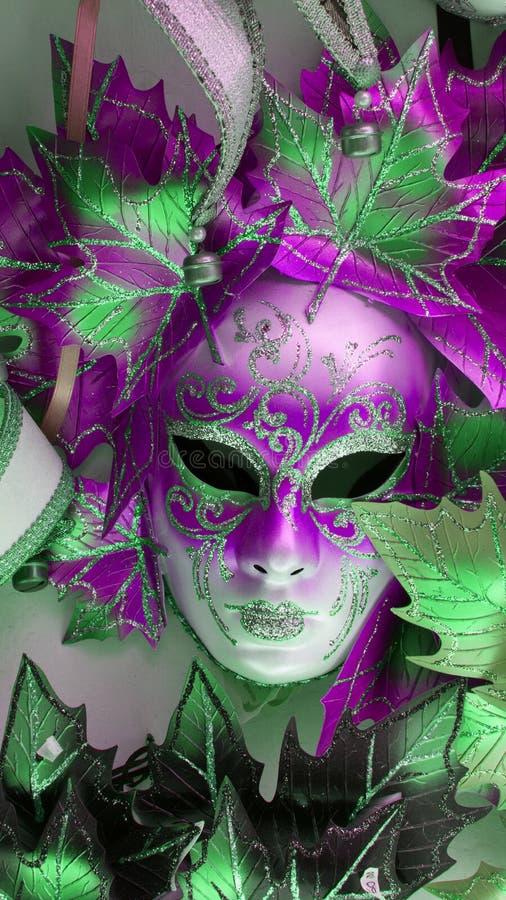 Pink Venitian Carnival Mask royalty free stock photo