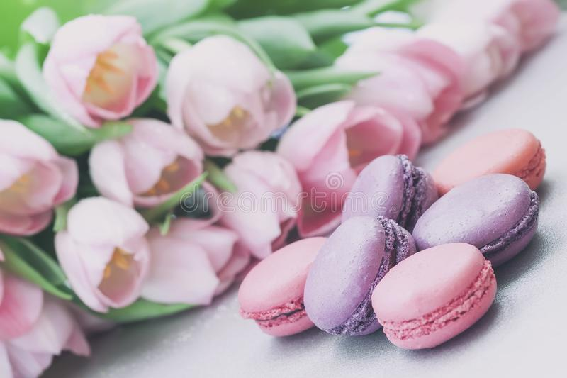Pink and violet macaroons spring flowers tulips tender pastel download pink and violet macaroons spring flowers tulips tender pastel background romantic negle