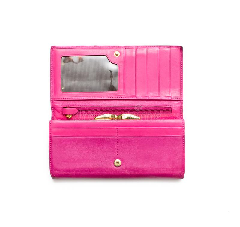 Pink wallet isolated. royalty free stock images