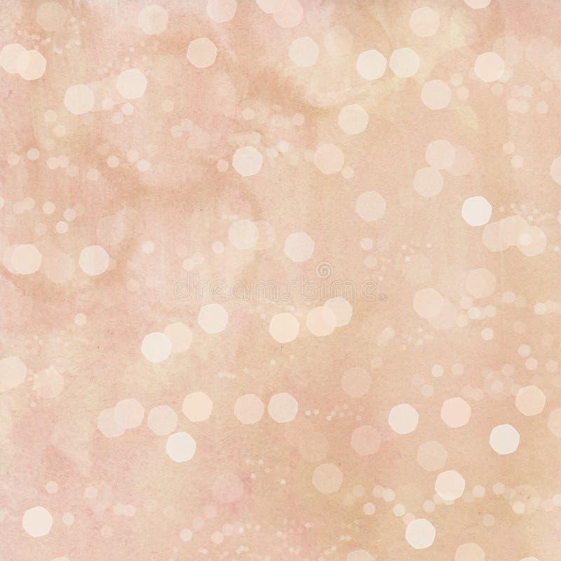 Pink watercolor bokeh spots background