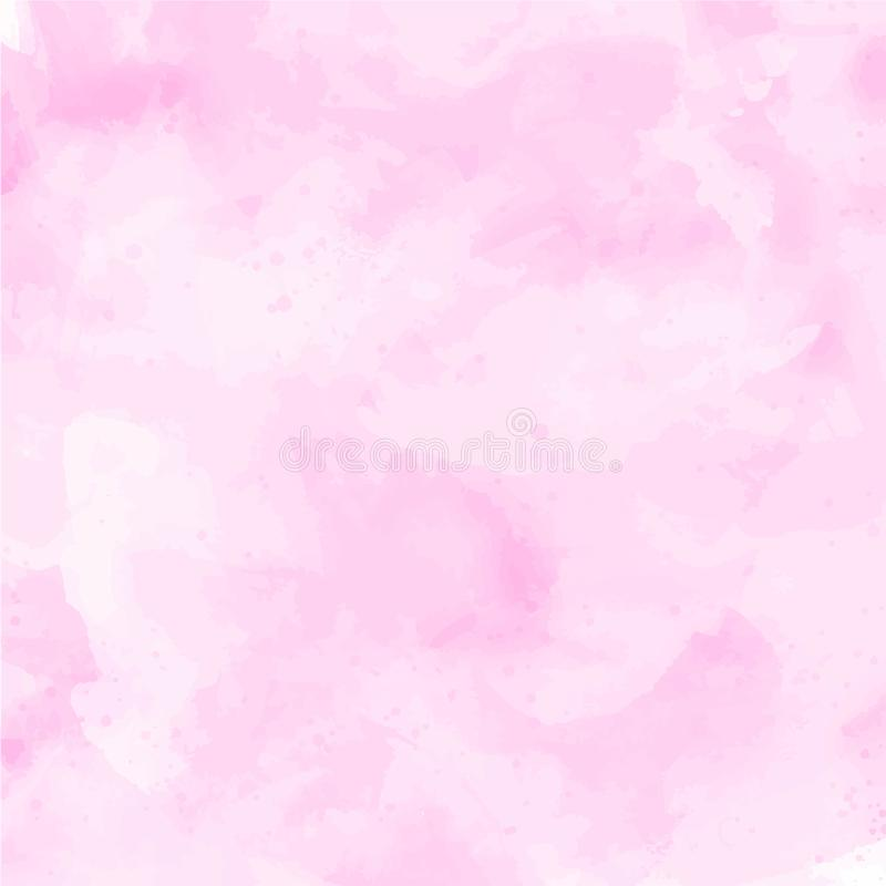 Pink watercolor subtle vector background stock illustration