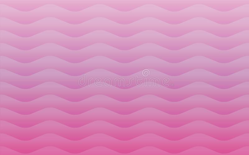 Colorful geometric seamless repetitive waves pattern texture. Pink waves background graphic illustration. Abstract background pattern seamless shapes stock illustration