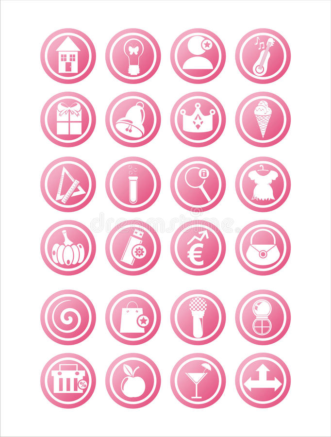 Download Pink web signs stock vector. Image of dress, music, building - 21449778