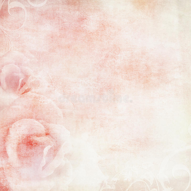 Pink wedding background with roses stock photography