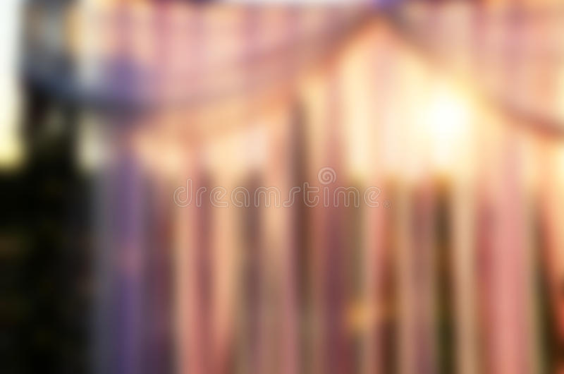 Pink wedding decoration blur. Pink and purple colors. Gaussian blur royalty free stock photo