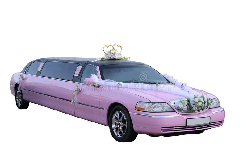 Download Pink Wedding Limousine Royalty Free Stock Photography - Image: 21176117