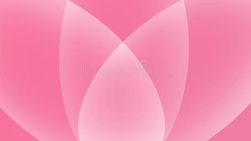 Pink And White Abstract Smooth Background..Lotus. Pink and white abstract background with lotus design royalty free illustration