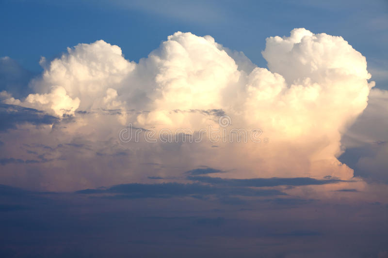 Download Pink and white clouds stock photo. Image of beautiful - 15052438