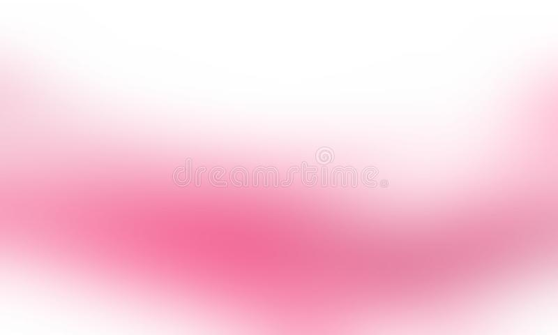 Pink white color abstract blur background wallpaper, vector illustration. stock images