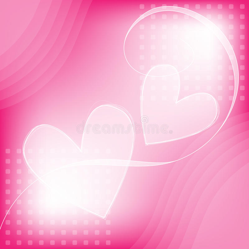 Pink And White Romantic Heart Background Royalty Free Stock Images