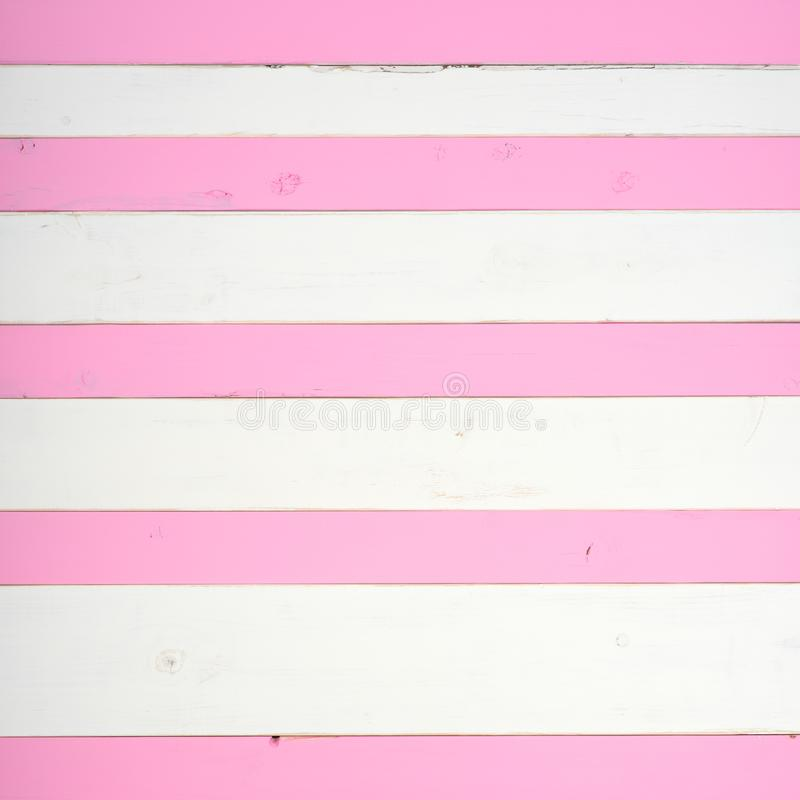 Pink and White Striped Shiplap Wood Board Background royalty free stock images