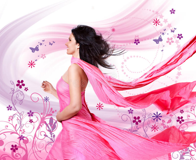 Pink wind 3 stock image