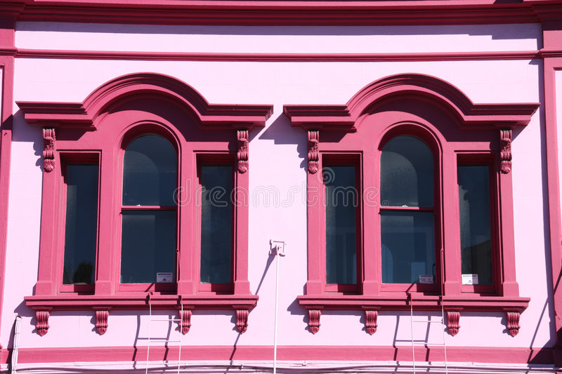 Pink windows stock photography