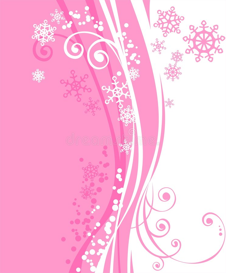 Free Pink Winter Background Royalty Free Stock Photography - 3604767