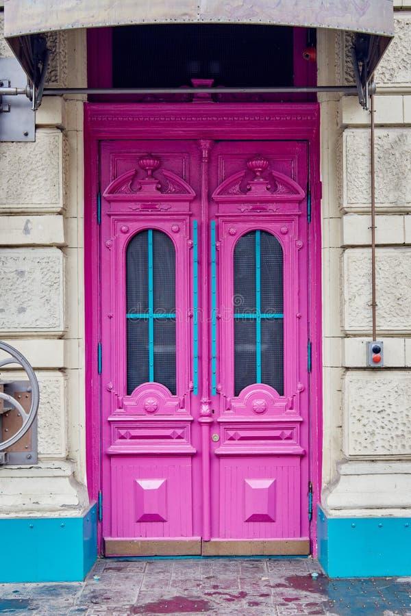 Free Pink Wooden Door Stock Photos - 110962603