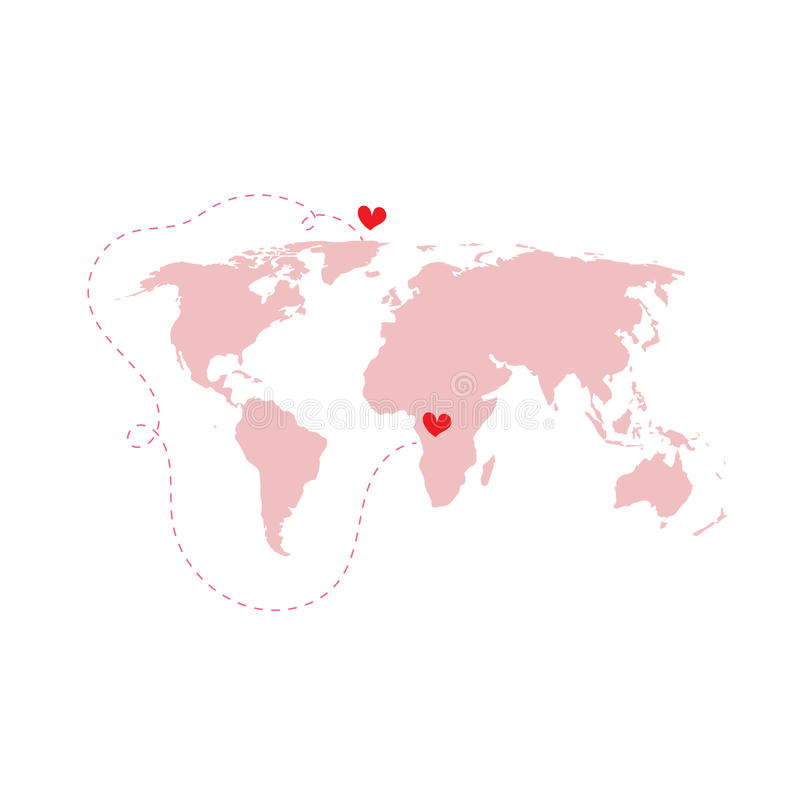 Pink world map atlas with love around the world red heart isolat download pink world map atlas with love around the world red heart isolat stock vector gumiabroncs Image collections