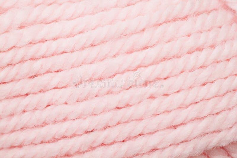 Pink Yarn Close Up. A close up image of pink yarn stock photo