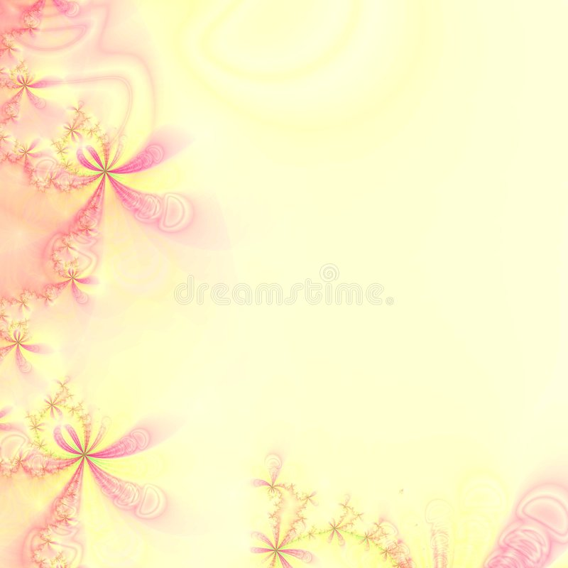 Pink and Yellow abstract design template, frame or wallpaper stock images