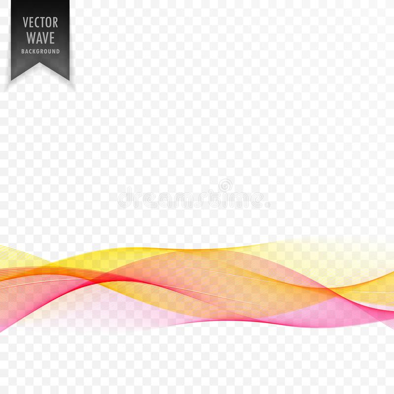 Pink and yellow abstract elegant wave background vector illustration