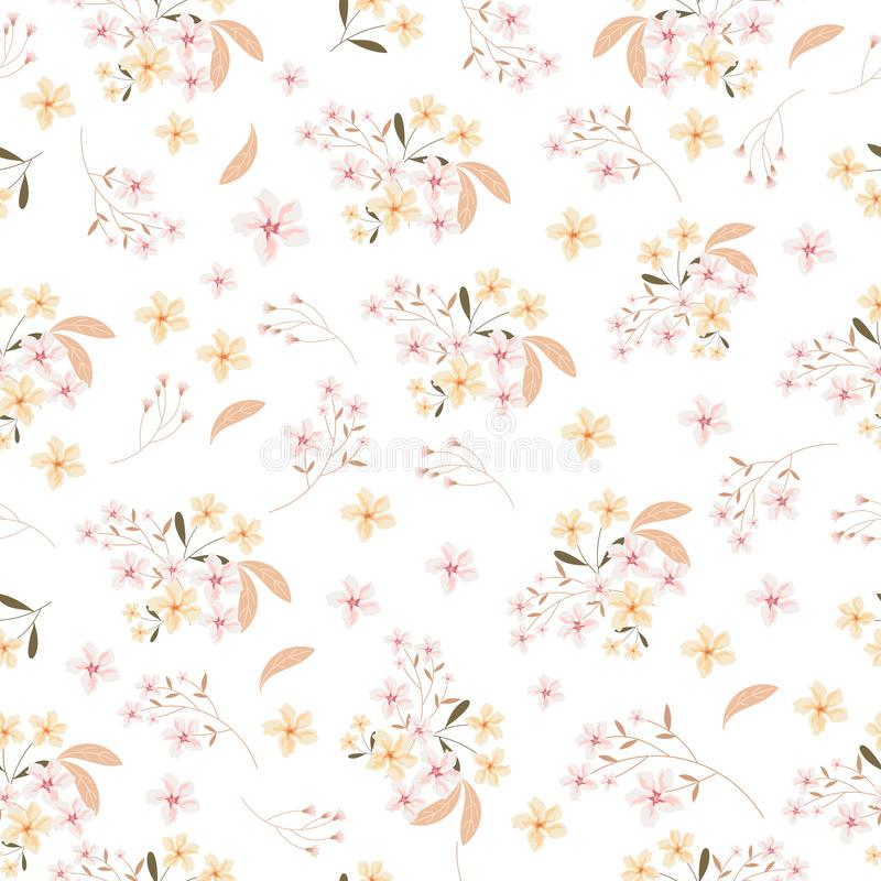 Pink and yellow seamless pattern vector illustration
