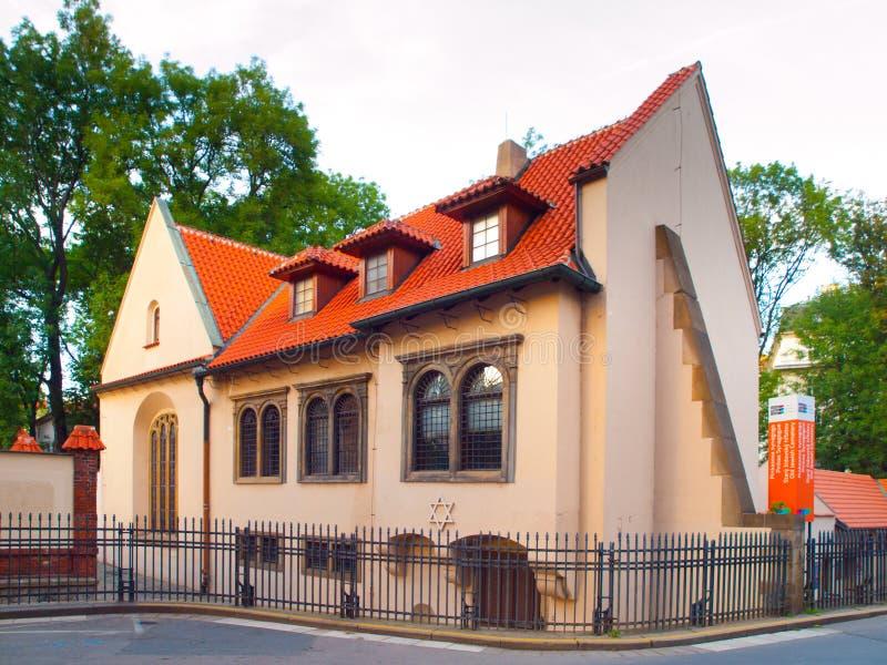 Pinkas Synagogue i judisk stad av Prague, Tjeckien royaltyfri foto