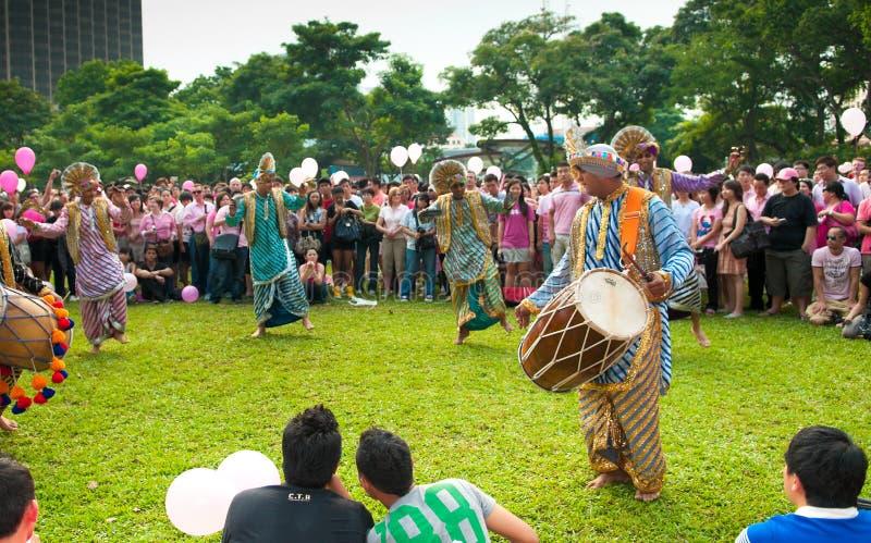 pinkdot för bhangradanskapacitet arkivbilder