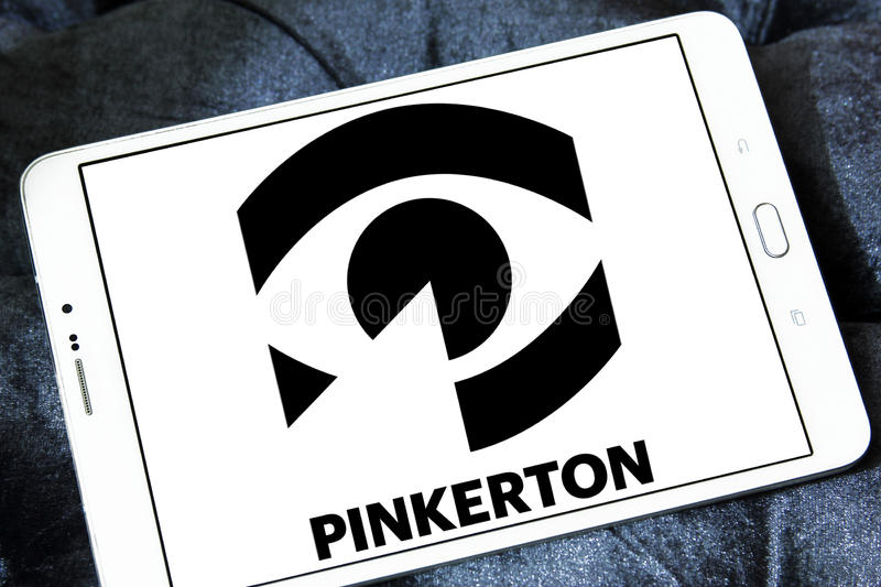 Pinkerton security company logo royalty free stock images