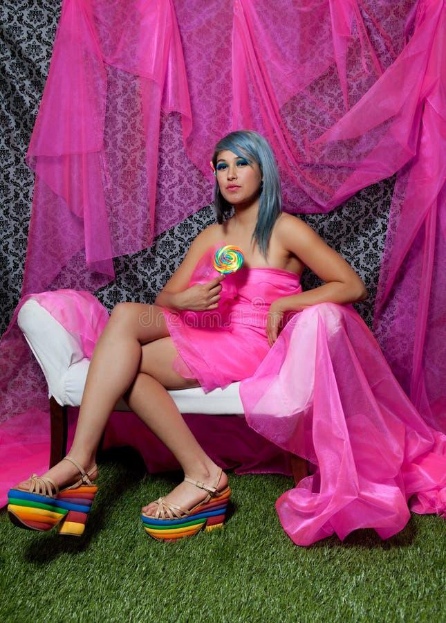 Pinkfarbene Schönheit stockfotografie