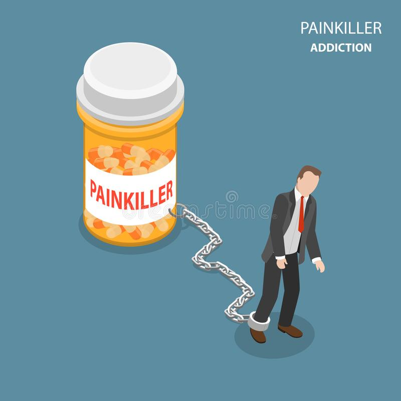 Pinkiller瘾平的等量传染媒介概念 向量例证
