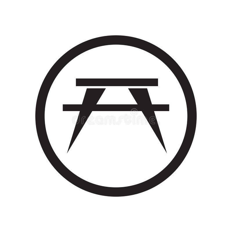 Pinkin ikony wektoru szyldowy znak i symbol odizolowywający na białym tle, pinkinu logo szyldowy pojęcie royalty ilustracja