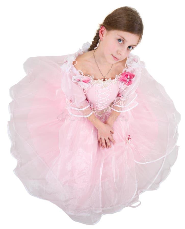 pinkish klänningflicka royaltyfri fotografi