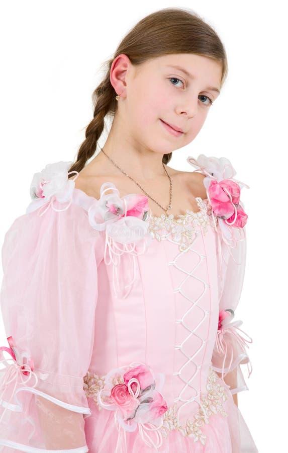pinkish klänningflicka arkivfoton