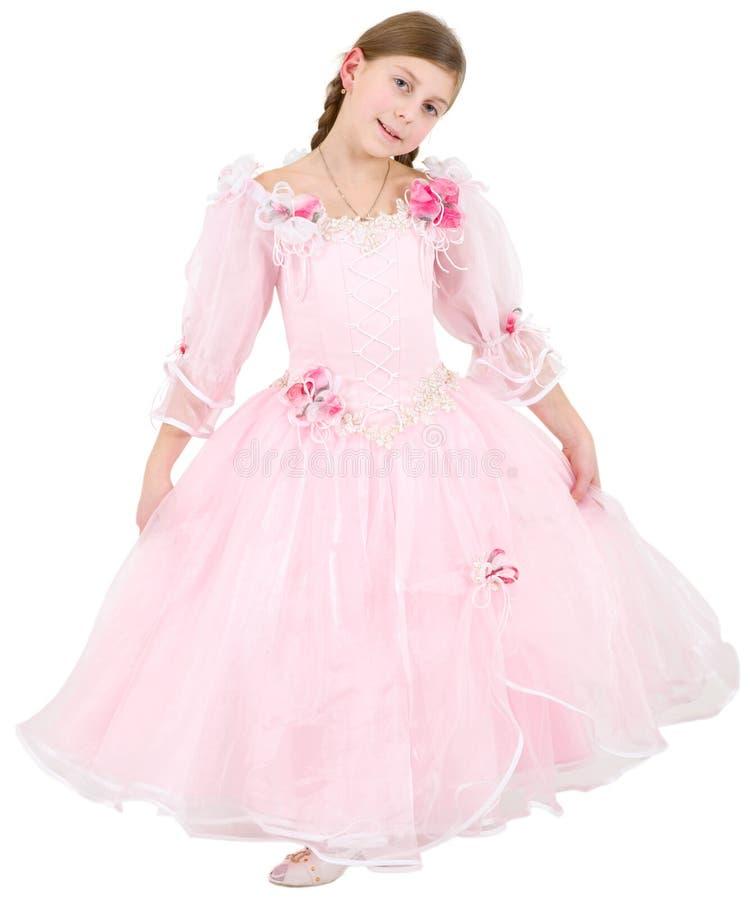 pinkish klänninggirlie royaltyfri foto