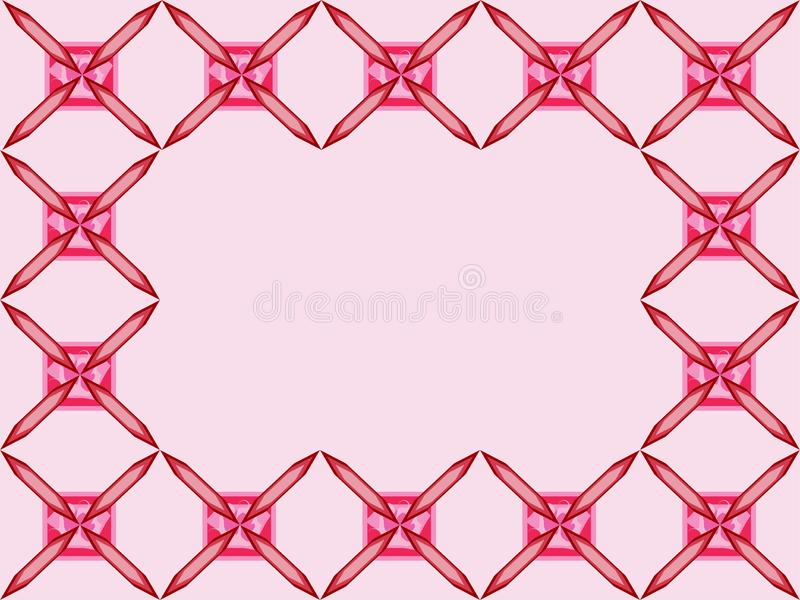Frame Border simple pink squere repetitive ethnic pattern pink background. Pinkish simple squere repetitive background pattern suitable for book cover, wallpaper royalty free illustration