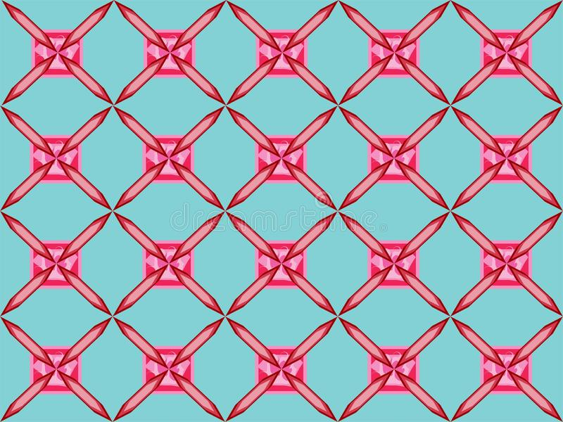 Pinkish simple squere repetitive ethnic pattern. Pinkish simple squere repetitive background pattern suitable for book cover, wallpaper decoration, home royalty free illustration
