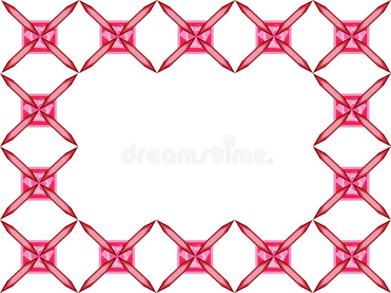 Border frame pinkish simple squere repetitive ethnic pattern. Pinkish simple squere repetitive background pattern suitable for book cover, wallpaper decoration stock illustration