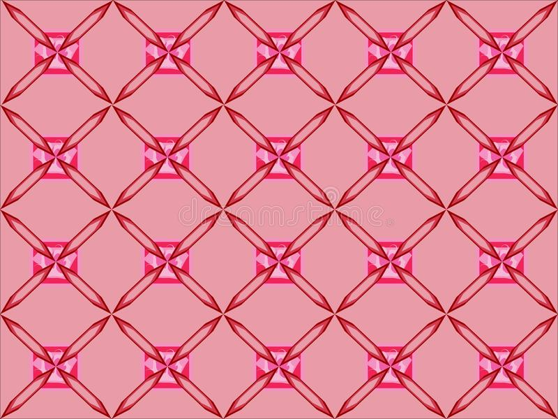 Simple squere repetitive ethnic pattern background 22. Pinkish simple squere repetitive background pattern suitable for book cover, wallpaper decoration, home royalty free illustration