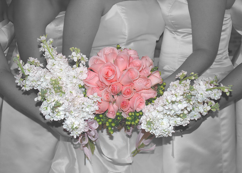 Pinkwedding Rosen stockbilder