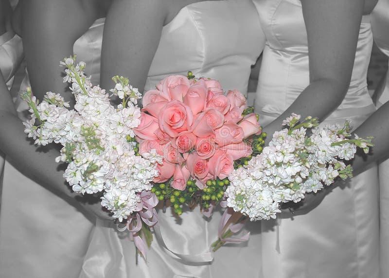 Pinkwedding roses stock images