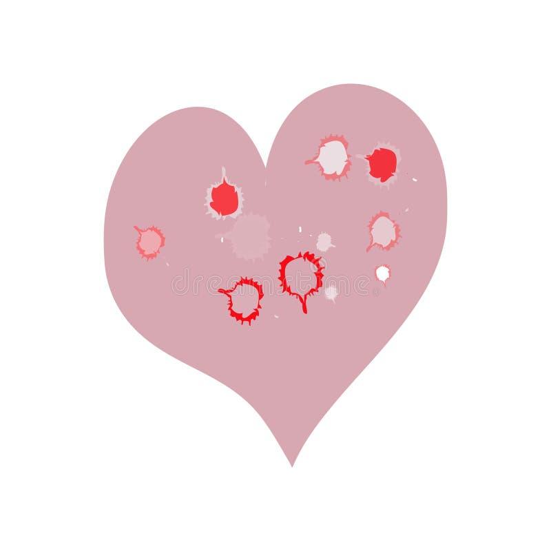 Pinky Funky Heart ilustración del vector