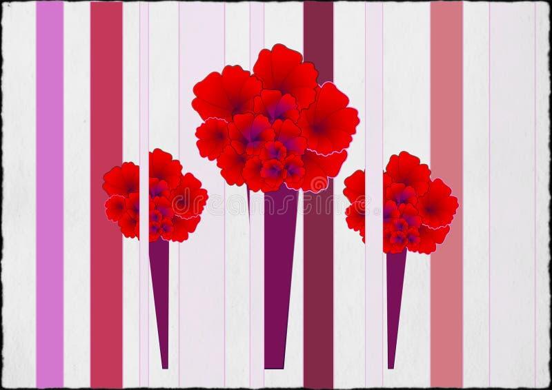 Pinky Karnation Birthday Card fotografia stock libera da diritti